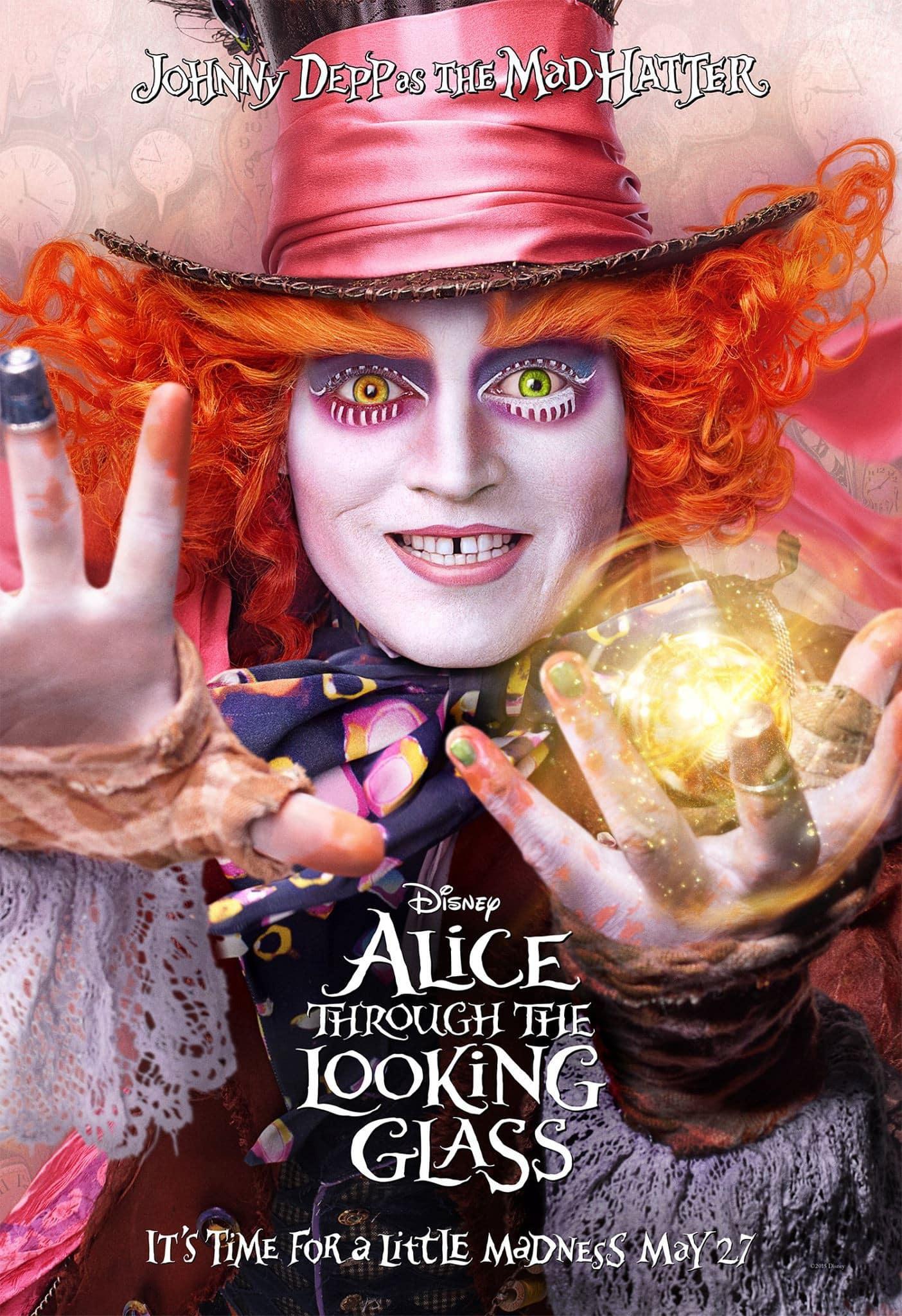 Johnny Depp le da vida de nueva cuenta al Sombrerero loco en Alice Through the Looking Glass