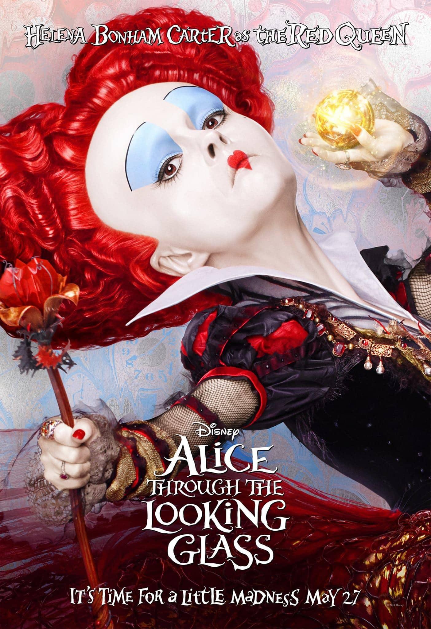 Helena Bonham Carter regresa a Alice Through the Looking Glass como la reina roja