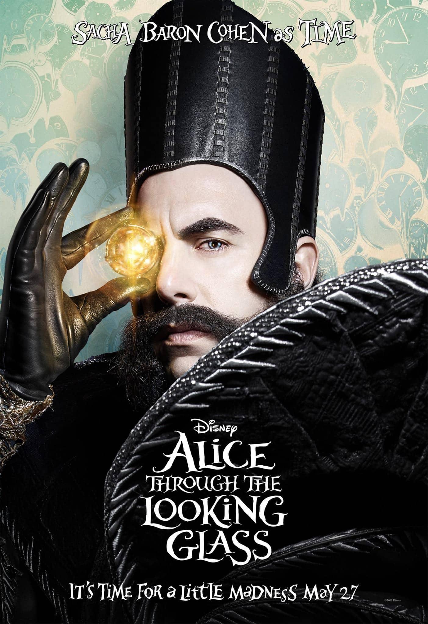 """Sacha Baron Cohen es """"tiempo"""" en Alice Through the Looking Glass"""