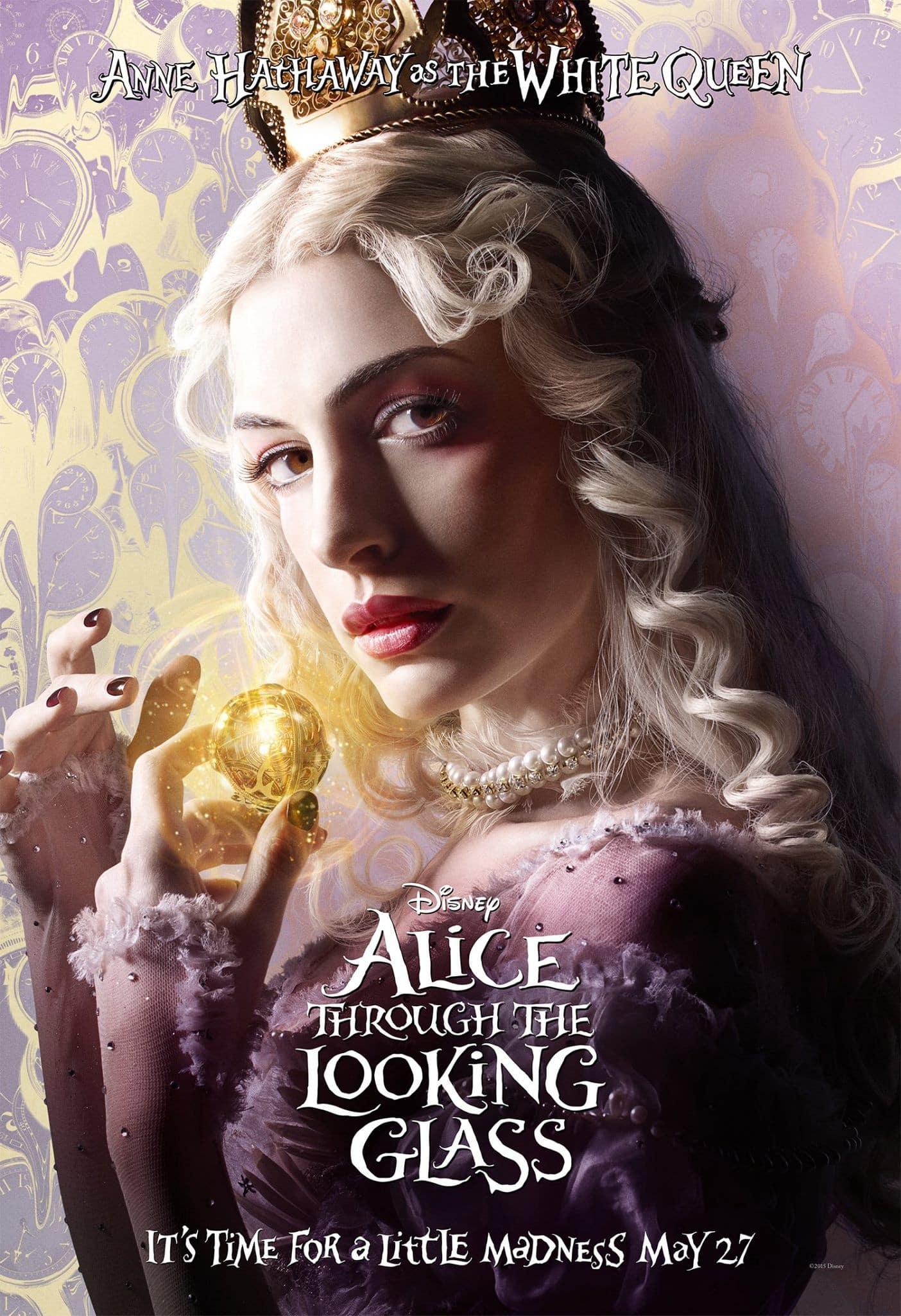 Anne Hathaway es la Reina Blanca en Alice Through the Looking Glass