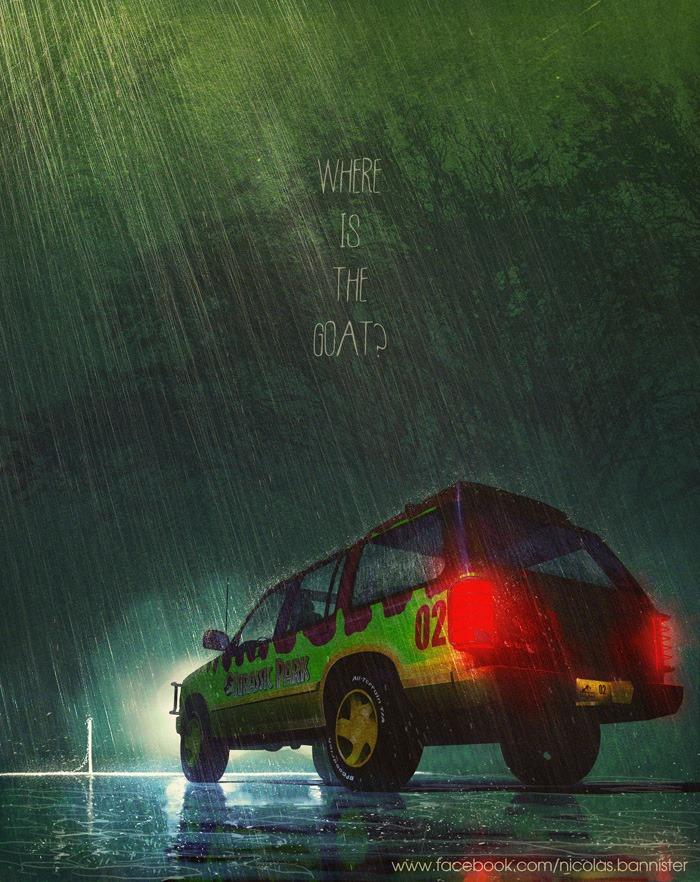 Vehículo: Tour Vehicle (Ford Explorers en las cintas) Serie/Película: Jurassic Park Series. Recreado por Nicolas Bannister.