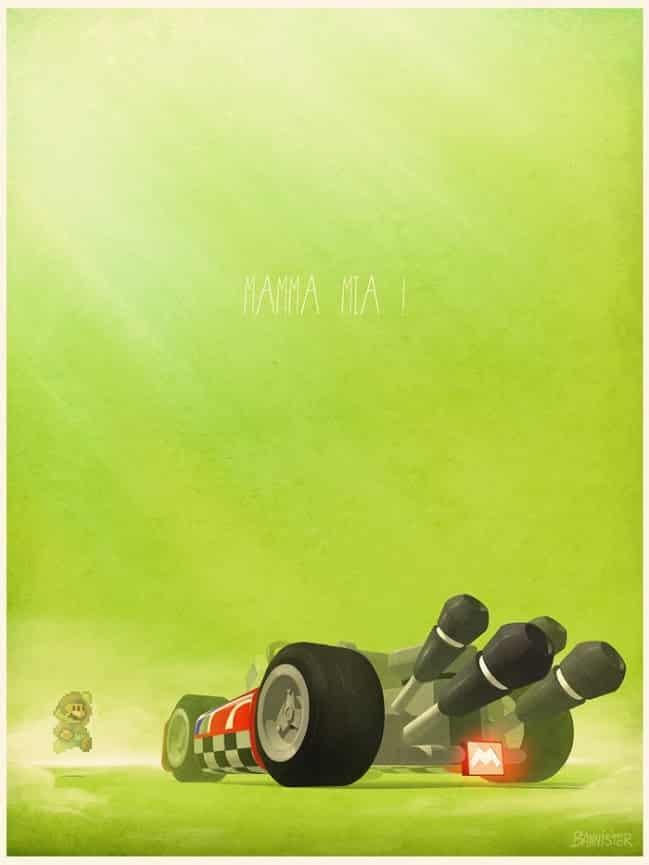 Vehículo: Kart Serie/Película: Mario Kart Series de Nintendo. Recreado por Nicolas Bannister.