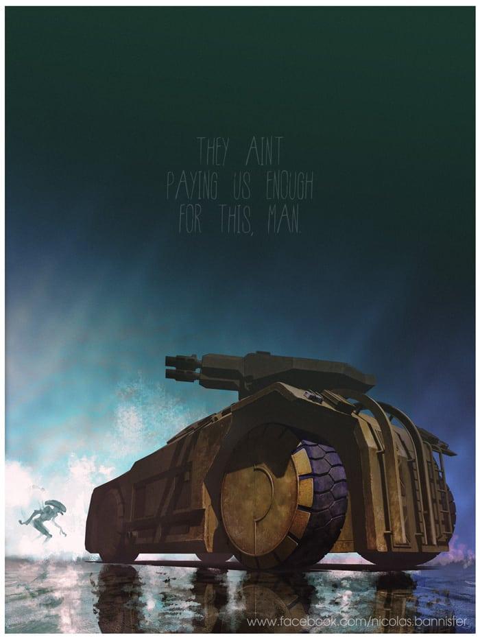 Vehículo: Assault Vehicle Serie/Película: Aliens Recreado por Nicolas Bannister.