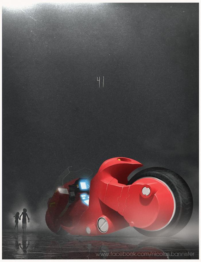 Vehículo: Motocicleta de Kaneda Serie/Película: Akira Recreado por Nicolas Bannister.