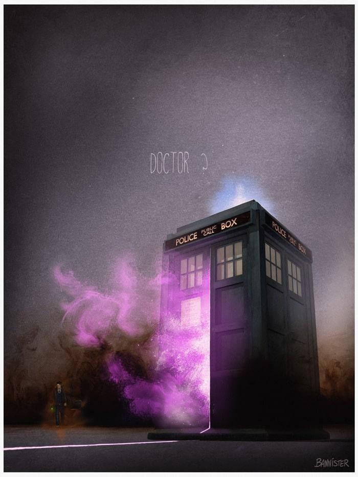 Vehículo: Tardis Serie/Película: Doctor Who de BBC. Recreado por Nicolas Bannister.
