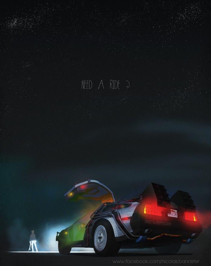 Vehículo: DeLorian Serie/Película: Volver al Futuro Saga. Recreado por Nicolas Bannister.