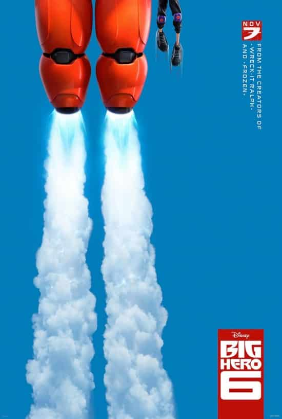 Poster oficial de Big Hero 6, cinta animada de Marvel y Disney Animation Studios.