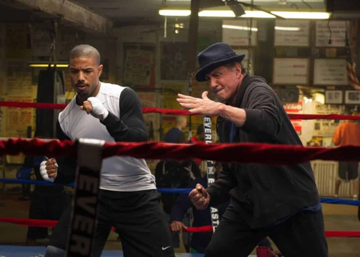 Michael B. Jordan y Sylvester Stallone en 'Creed'. © 2015 Warner Bros. Entertainment Inc. and Metro-Goldwyn-Mayer Pictures Inc. All Rights Reserved.