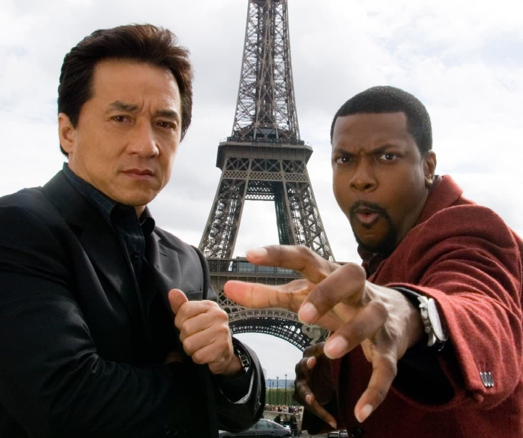 Jackie Chan y Chris Tucker en Rush Hour 3