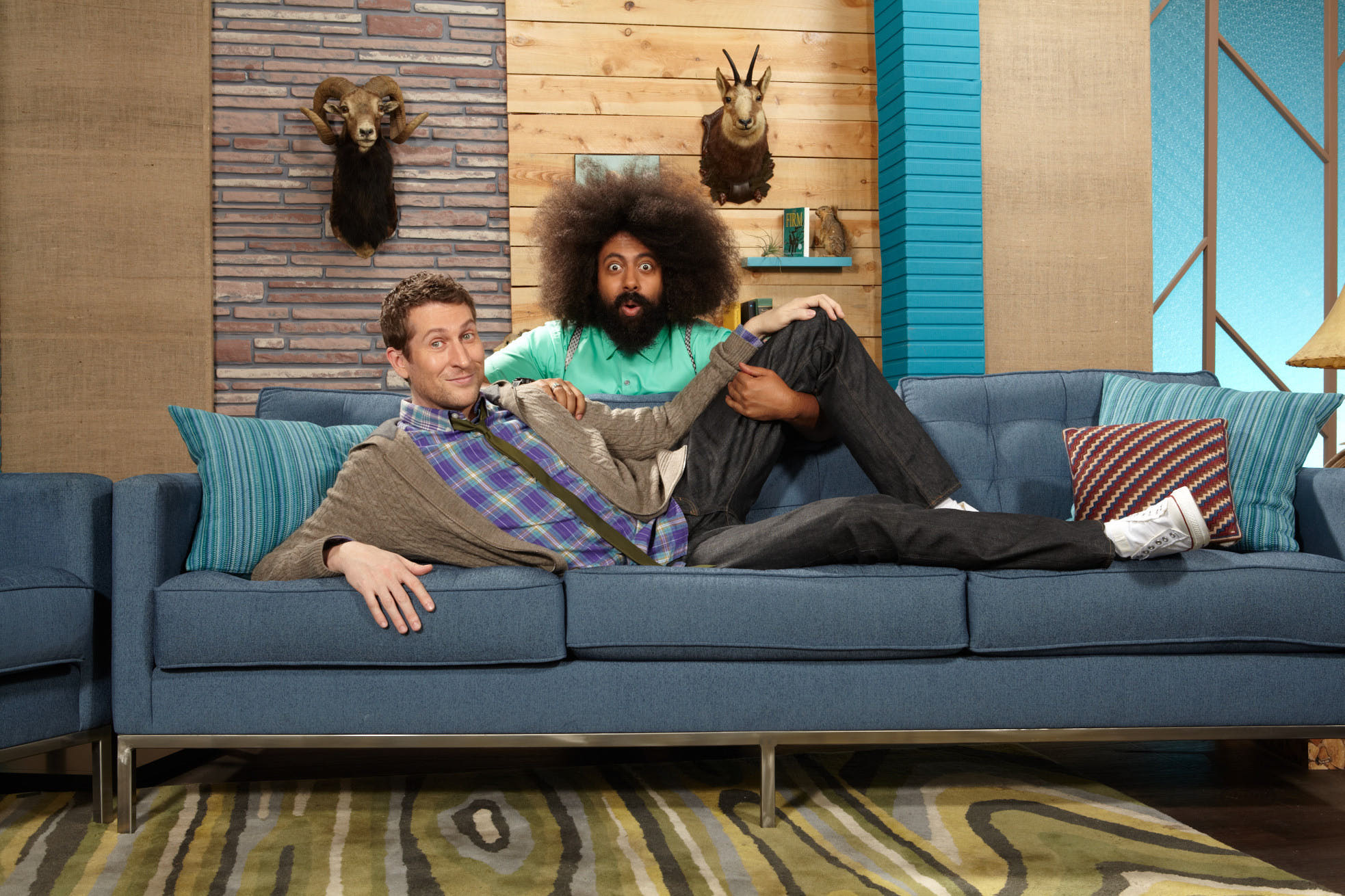 Scott Aukerman y Reggie Watts de Comedy Bang Bang de IFC
