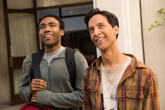 """COMMUNITY -- """"Geothermal Escapism"""" Episode 504 -- Pictured: (l-r) Donald Glover as Troy, Danny Pudi as Abed -- (Photo by: Justin Lubin/NBC)"""