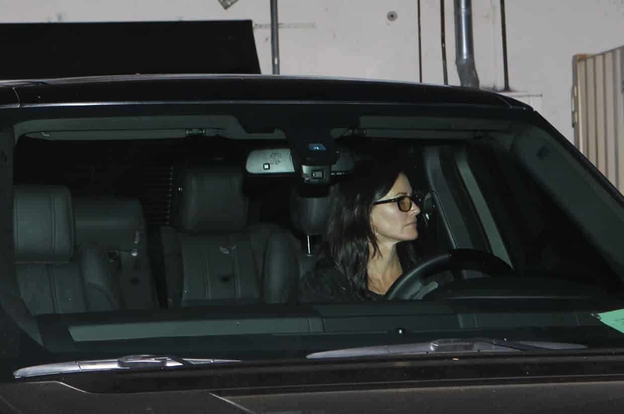Courteney Cox saliendo de la cena. Fotografía: Cordon Press