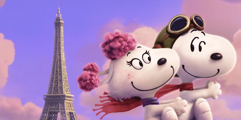 Snoopy, transformado en un aviador de la Primera Guerra Mundial