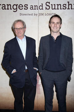 Ken Loach junto a su hijo Jim Loach