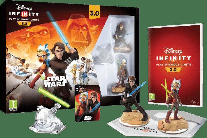 El starter pack de Disney infinity 3.0 con Starwars