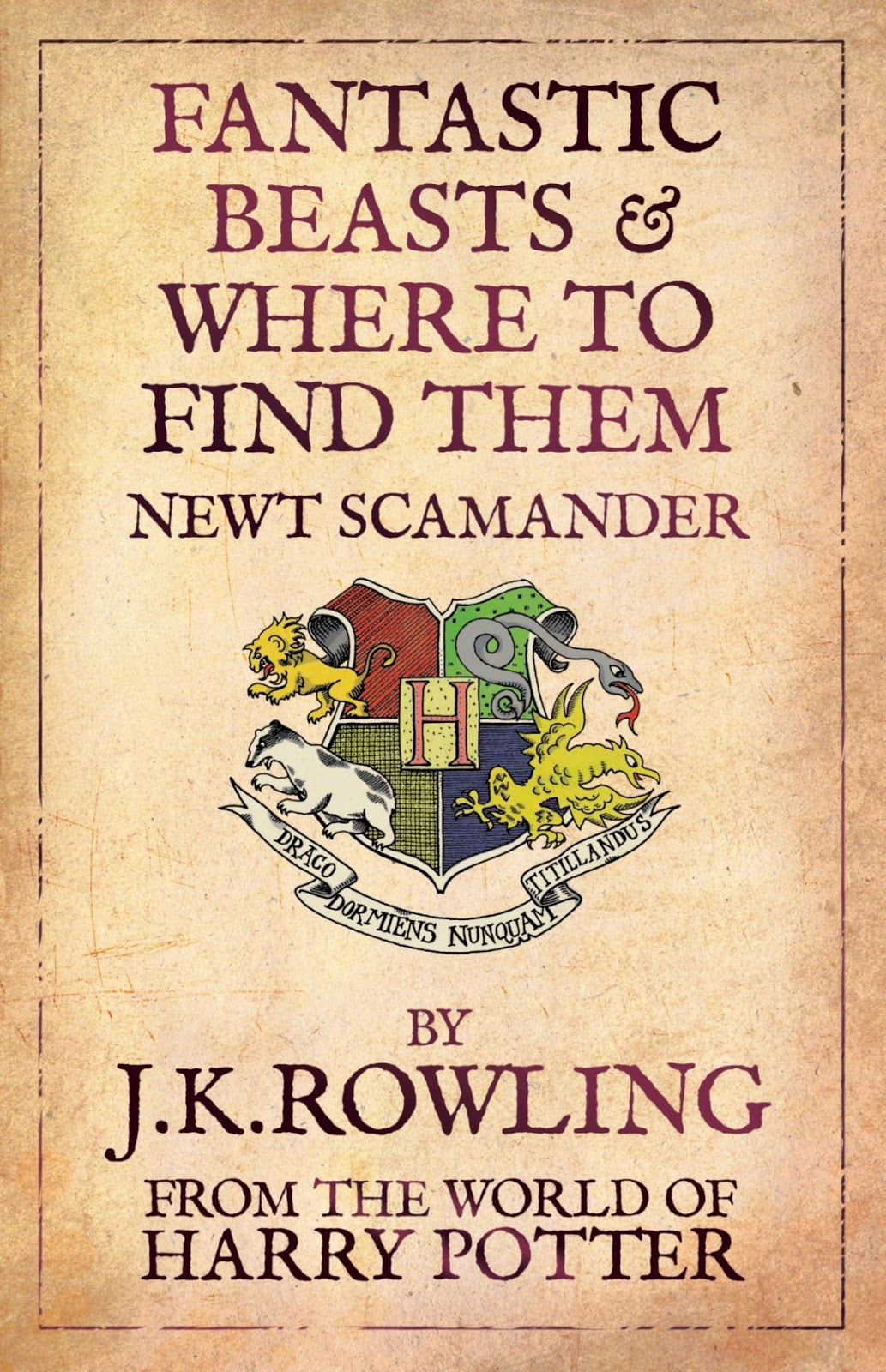 Portada de Fantastic Beasts and Where to Find Them de J.K. Rowling JK Rowling, autora de los libros de Harry Potter, escribirá la nueva saga de cintas de Warner Bros, sobre Newt Scamander en Fantastic Beasts and where to Find Them. Fantastic Beasts and where to Find Them llegará en 2016 aun sin un director o elenco anunciado