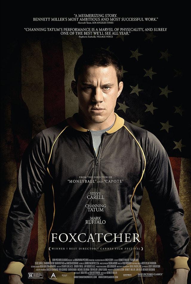 Poster oficial de Foxcatcher de Bennett Miller. Foxcatcher es estelarizada por Steve Carell, Channing Tatum, Anthony Michael Hall y Mark Ruffalo