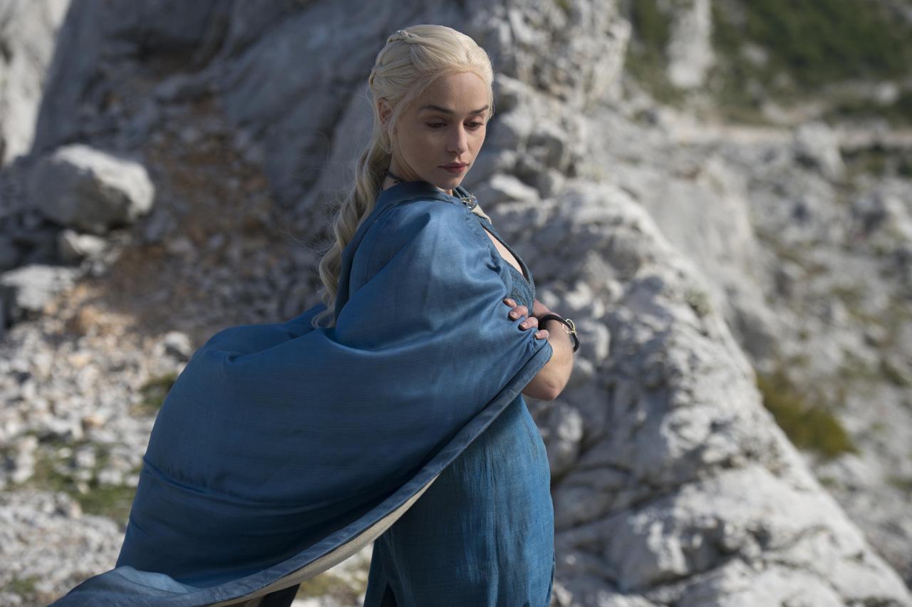 Emilia Clarke en la cuarta temporada de Game of Thrones de HBO