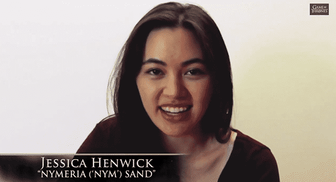 Imagen promocional de: Jessica Henwick, actor que se unirá a la 5ta temporada de Game of Thrones para HBO basado en la novela homónima de George R.R. Martin. HBO y Game of Thrones nos muestran parte de los actores que llegarán a la 5ta temporada del Show. Game of Thrones es una serie orignal de HBO basada en las novelas homónimas de George R.R. Martin, estelarizada por Peter Dinklage, Lena Headey, Emilia Clarke, Maisie Williams y Kit Harington.