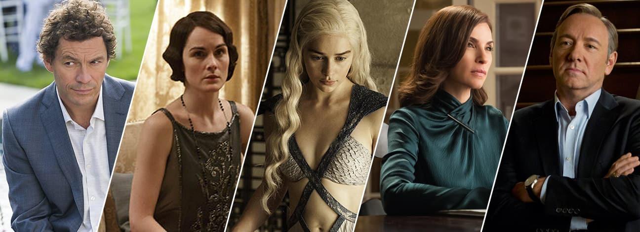 Imagen promocional de los Golden Globes Awards 2015 y todos sus ganadores. Como cada año se dan los Golden Globe Awards, y aquí los nominados y ganadores de la 72da entrega. Los nominados a mejor Show de Drama son: The Affair Downton Abbey Game of Thrones The Good Wife House of Cards