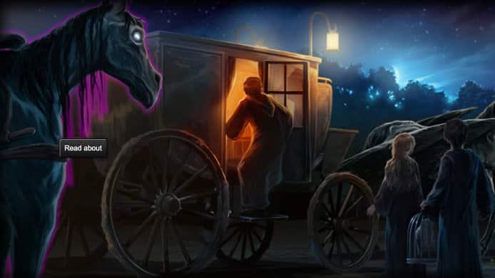Los carruajes: Thestrals, 1 de las 6 nuevas historias escritas por J.K. Rowling para Pottermore. J.K. Rowling, autora de la saga de Harry Potter nos presenta 6 nuevas historias relacionadas al universo de Harry Potter en Pottermore. Fantastic Beasts and where to Find Them llegará en 2016 dirigida por David Yates, escrita por J.K. Rowling y sin elenco elegido.