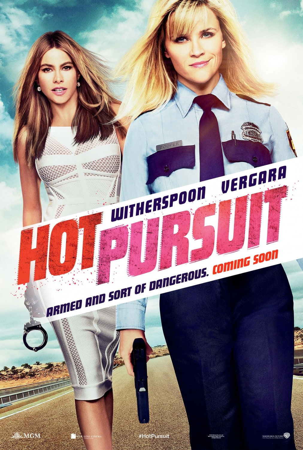 Poster de Hot Pursuit con Sofia Vergara y Reese Witherspoon