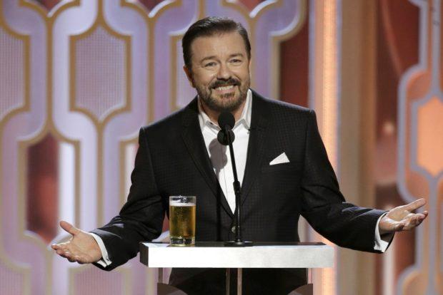 Las mejores frases de Ricky Gervais en los Globos de Oro