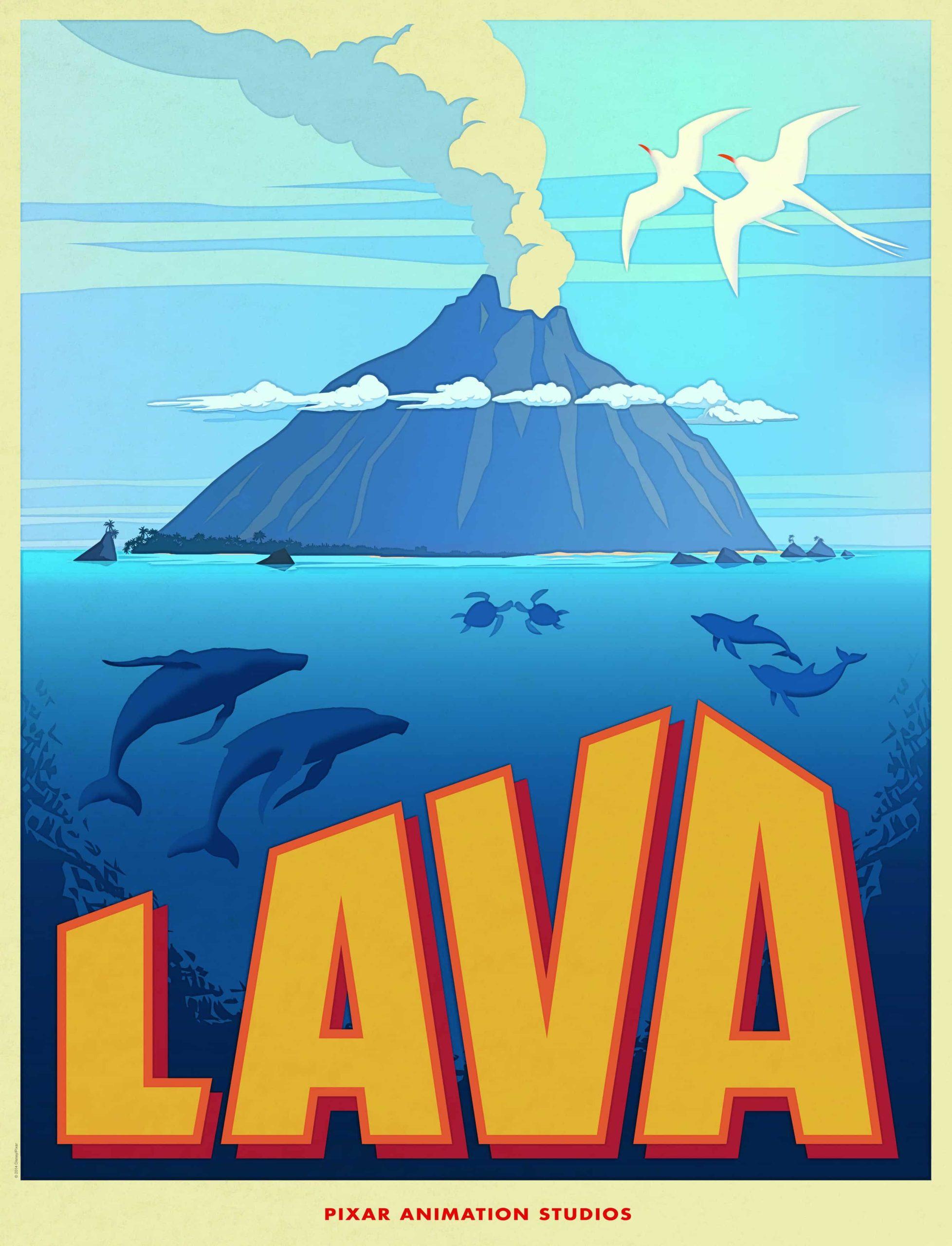 Poster promocional de Lava, nuevo cortometraje de Disney Pixar, previa a Inside Out. Lava es dirigido por James Ford Murphy, y se estrenará antes de Inside Out el 19 de Junio de 2015.