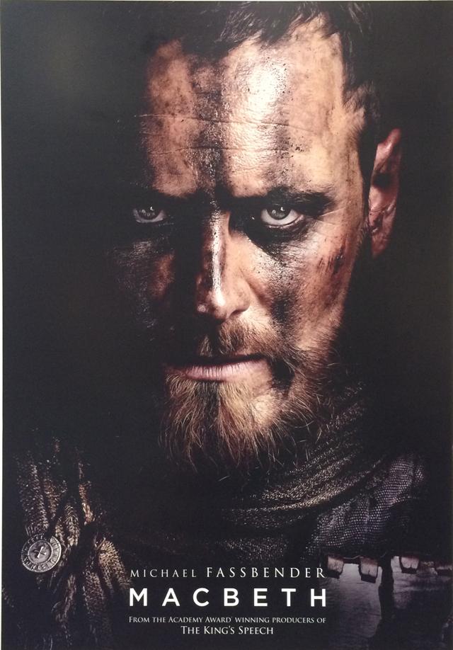 Poster de Macbeth de Justin Kerzel, estelarizado por Michael Fassbender