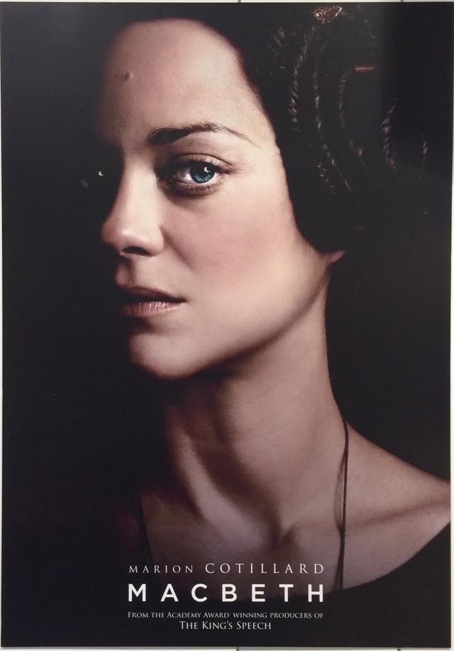 Poster de Macbeth de Justin Kerzel, estelarizado por Marion Cotillard