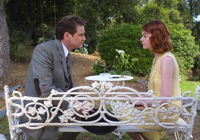 Colin Firth y Emma Stone en Magic in the Moonlight de Woody Allen.