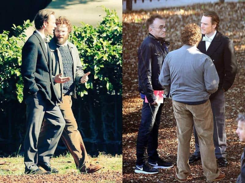 Michael Fassbender, Danny Boyle y Seth Rogen