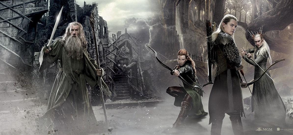 The Hobbit - Gandalf Legolas Tauriel