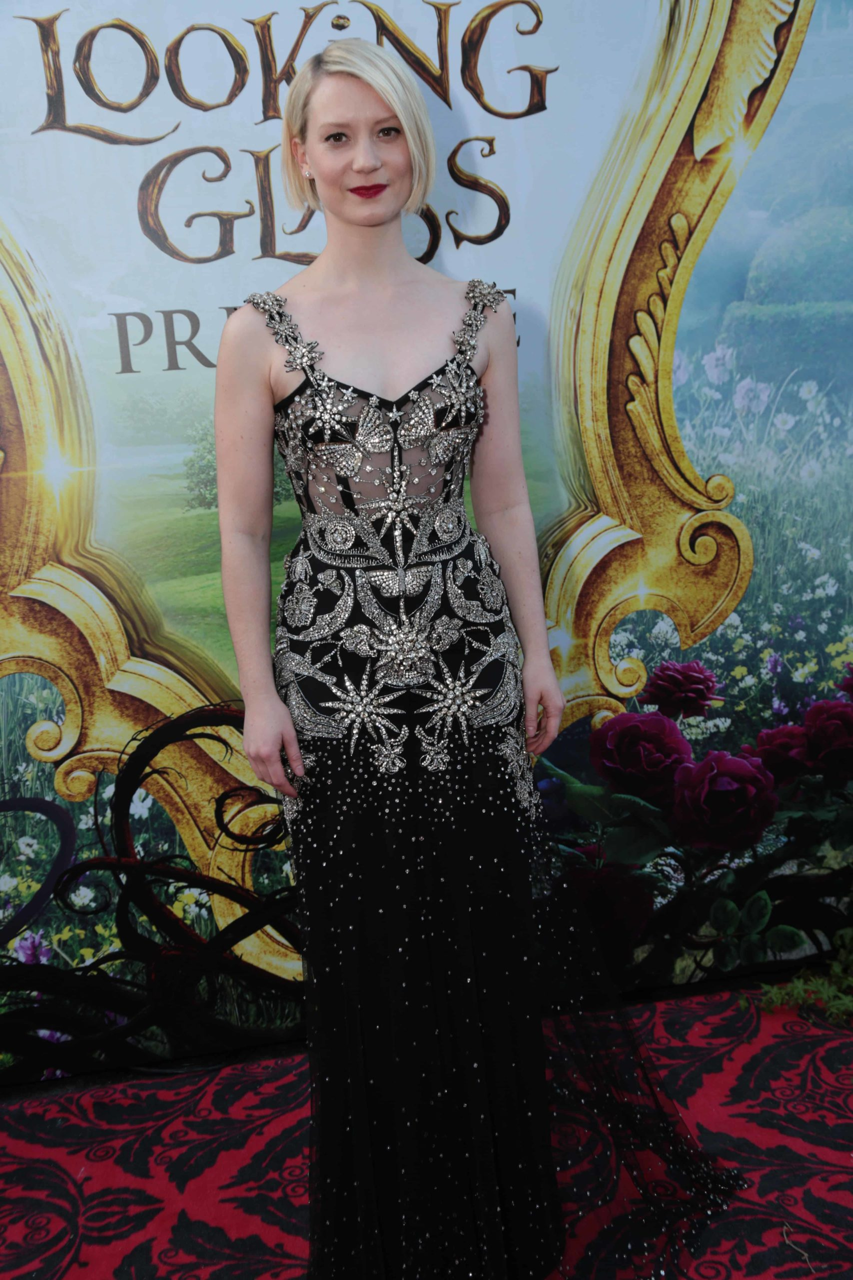 """Mia Wasikowska arrives at The US Premiere of Disney's """"Alice Through the Looking Glass"""" at the El Capitan Theater in Los Angeles, CA on Monday, May 23, 2016. (Photo: Alex J. Berliner/ABImages)"""