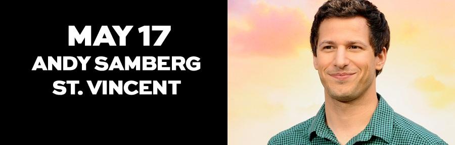 Andy Samberg será host de Saturday Night Live, de NBC, acompañado por St. Vincent