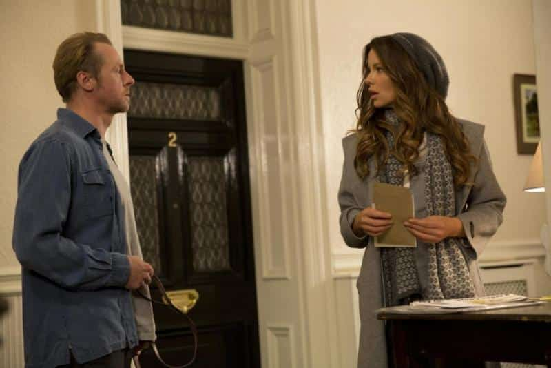 Simon Pegg y Kate Beckinsale en Absolutely Anything