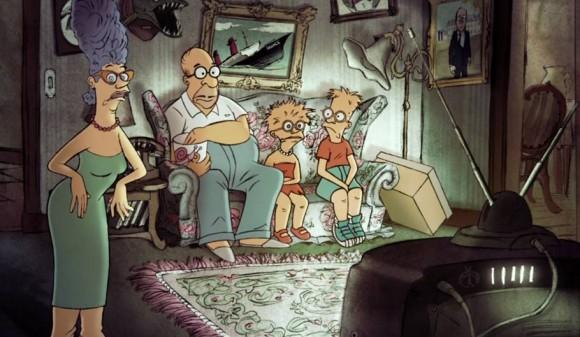 Nuevo Couch Gag de Los Simpsons de Sylvain Chomet