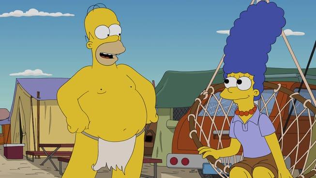 Imagen promocional de 'Blazed and Confused' donde parodiarán Burning Man con William Dafoe. Los Simpsons nos presentan las primeras imágenes de su nuevo episodio donde parodiarán Burning Man con William Dafoe como invitado. 'Blazed and Confused' será el 7mo episodio de esta temporada 26 de los Simpsons, estelarizado por Dan Castellaneta, Julie Kavner, Nancy Cartwright, Yeardley Smith, Hank Azaria y Harry Shearer, además de Willem Dafoe como invitado.