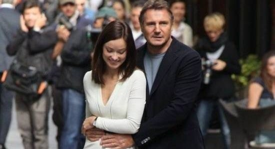 "Liam Neeson y Olivia Wilde en ""Third Person"""