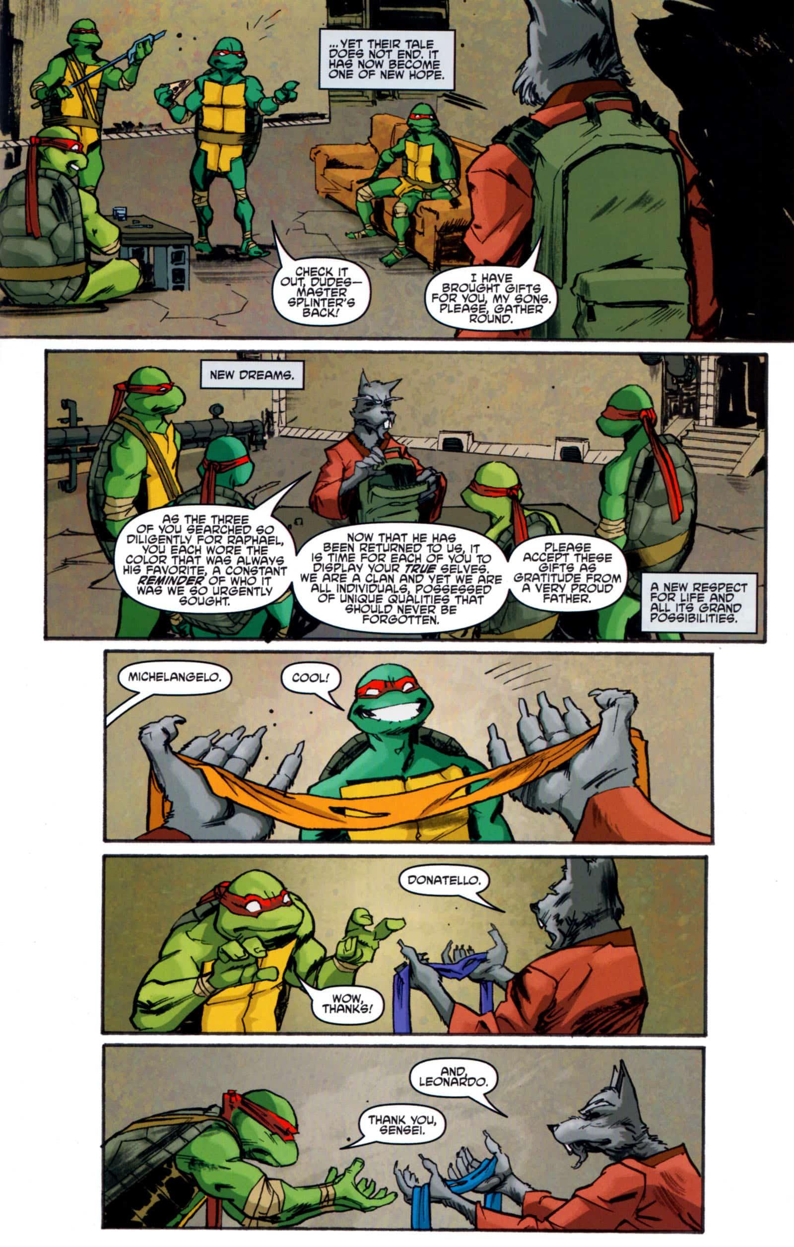 TMNT 5 de IDW pág. 21