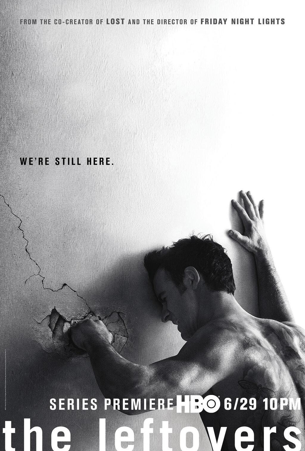 Poster de The Leftovers de Damon Lindelof de HBO, basado en la novela original de Tom Perotta.