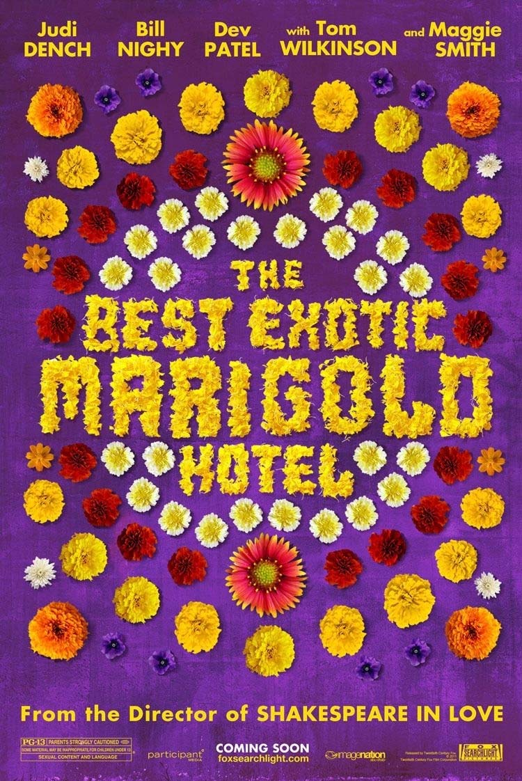 Imagen promocional de  The Second Best Exotic Marigold Hotel, cinta que llegará a HBO Now, plataforma de Video on Demand de HBO, con contenido original y exclusivo de la compañía. Como cada mes, HBO Now y HBO han revelado todos los shows y cintas que llegarán este mes, esta ocasión en Enero de 2016 exclusivamente a su plataforma de Video on Demand. Entre lo destacado que llegará este mes a la plataforma de HBO Now están grandes películas como: Mad Max: Fury Road, The Muppet Christmas Carol, The Second Best Exotic Marigold Hotel, Tropic Thunder, Whitney Cummings: I'm Your Girlfriend, Borat: Cultural Learnings of America for Make Benefit Glorious Nation of Kazakhstan, Carrie, Entourage y Final Destination 3.