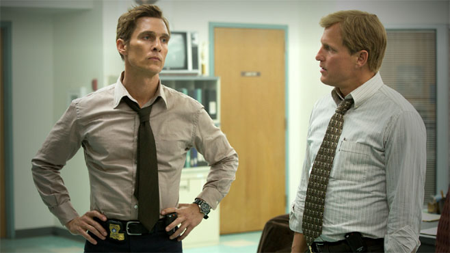 """Matthew McConaughey y Woody Harrelson en """"True Detective"""""""