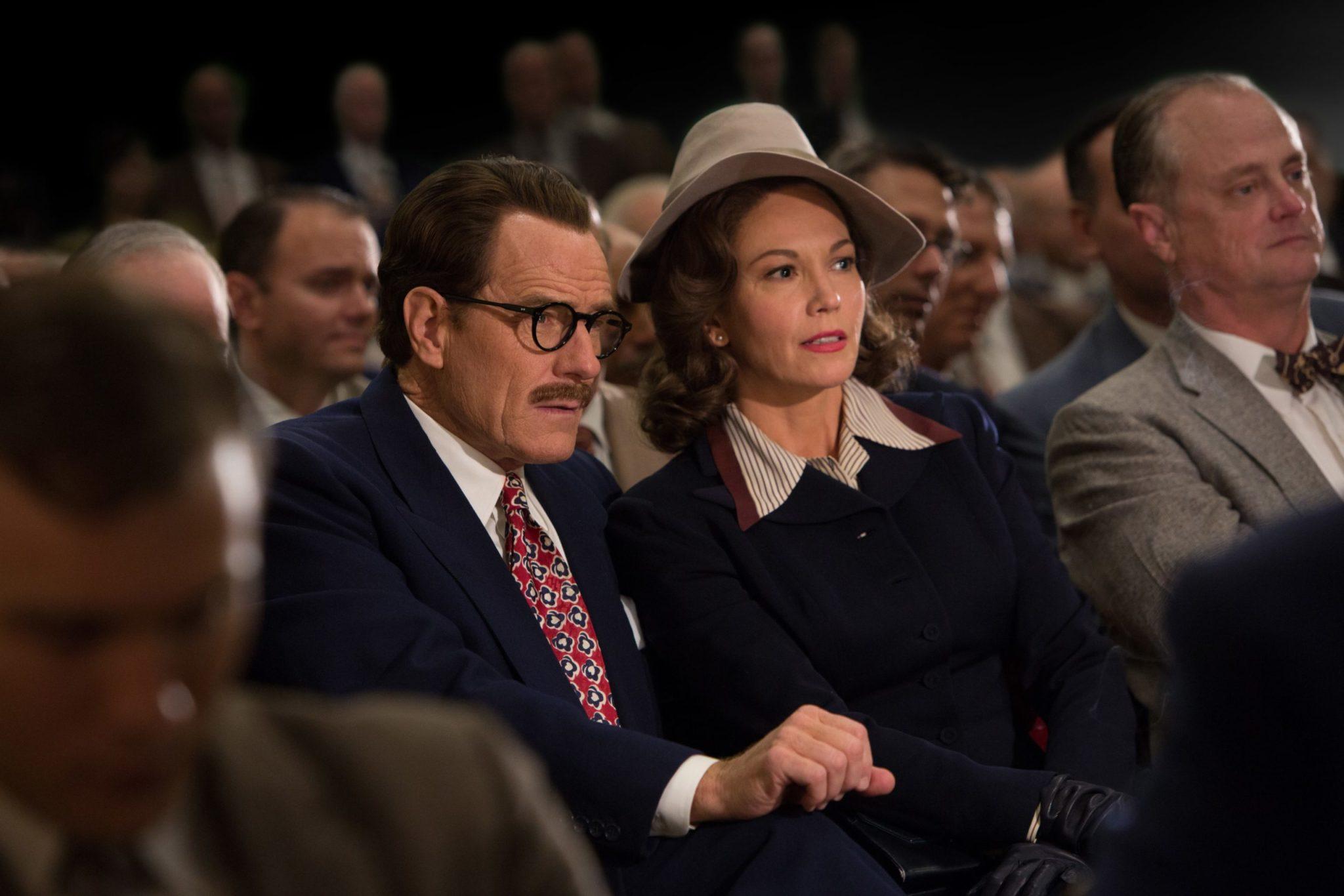 Bryan Cranston y Diane Lane son marido y mujer en la biopic del guionista de Hollywood, 'Trumbo'.