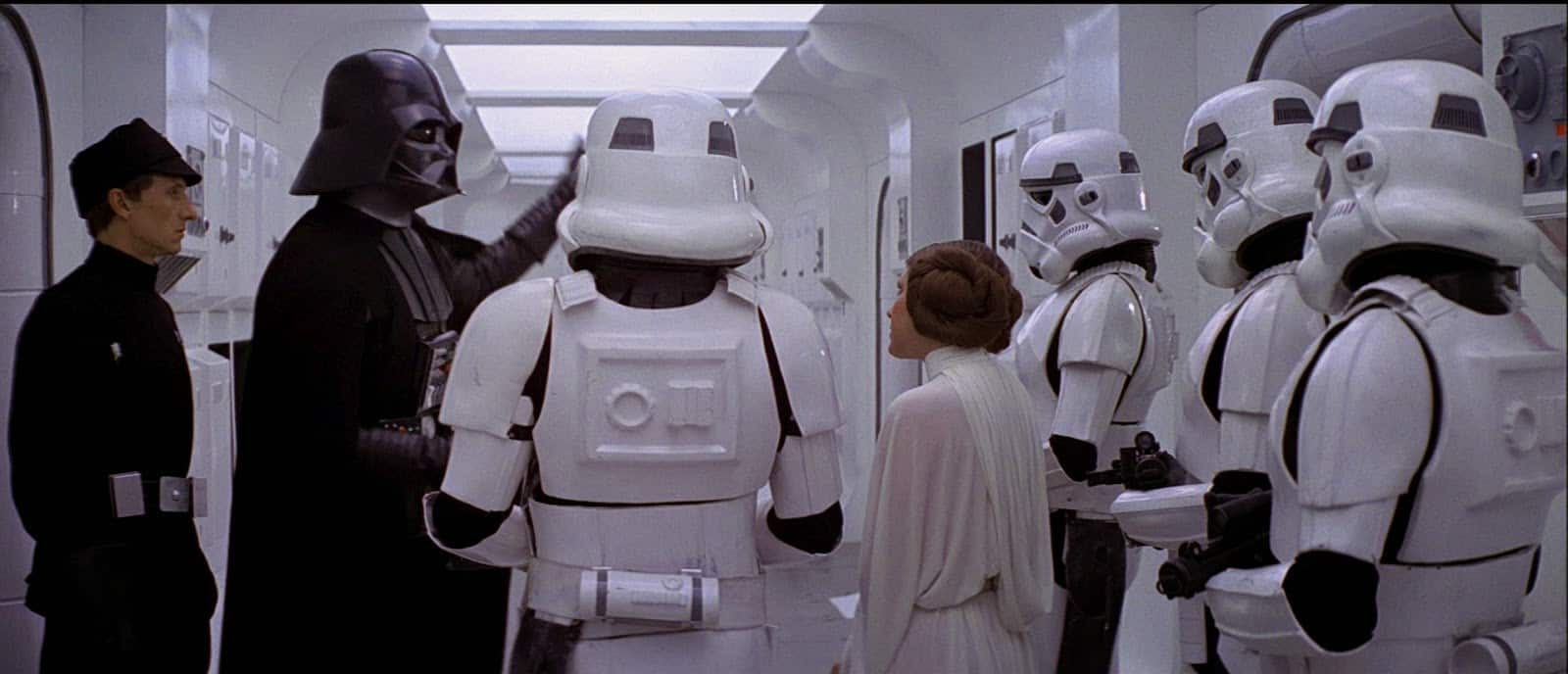 Vader and Stormtroopers with Leia