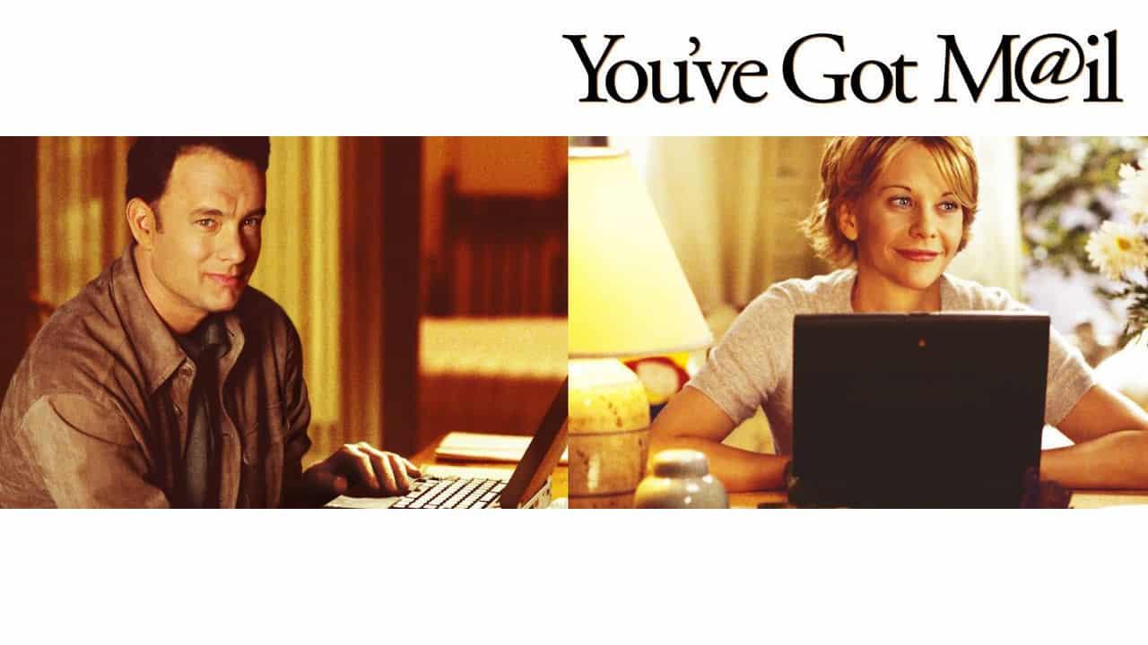 Imagen promocional de You've Got Mail, parte de las cintas que dejarán Netflix este 2014. Imagen promocional de Netflix, sistema de VOD. Netflix ha anunciado todos los shows que dejarán el sistema de video en demanda este 31 de Diciembre de 2014 y los que llegarán a partir del 1ro de Enero de 2015.