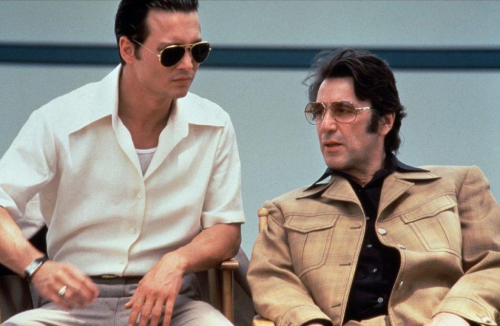 """Al Pacino y Johnny Depp en """"Donnie Brasco"""""""