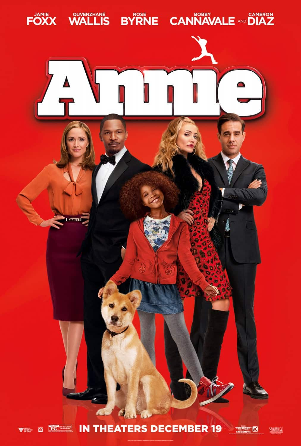 Imagen promocional de Annie, Remake nominada a los Premios Razzies 2014. os Premios Razzie ha anunciado los nominados a los premios Razzie de 2014, entre los principales nominados están 'Transformers: Age of Extinction', 'A Million Ways to Die' y 'Teenage Mutant Ninja Turtles'.  Los Premios Razzies 2014 han revelado sus nominados, Los nominados a Peor Remake son: Annie Atlas Shrugged Part III: Who Is John Galt? The Legend of Hercules Teenage Mutant Ninja Turtles Transformers 4: Age of Extinction