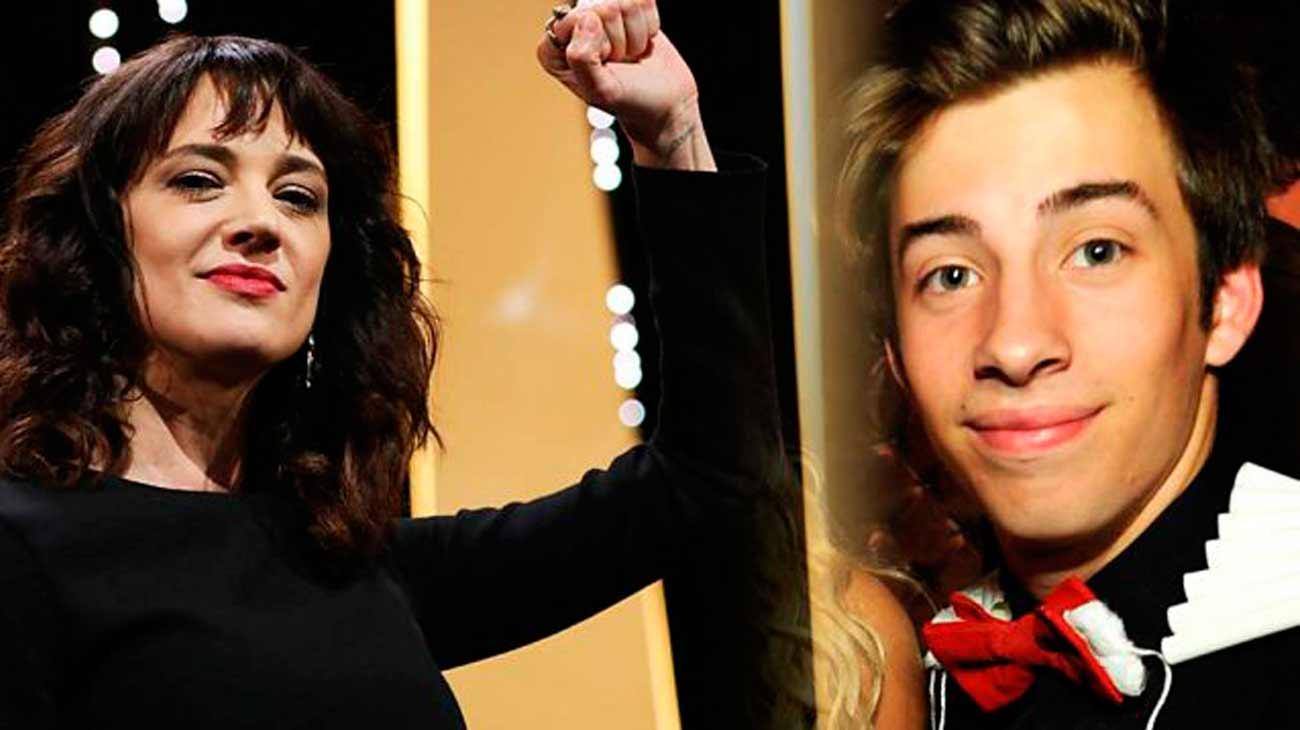 Asia Argento es acusada de abuso a menor de edad el antiguo actor infantil Jimmy Bennett
