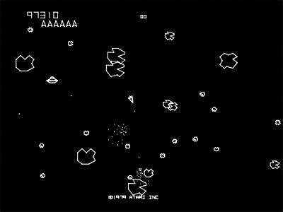 Pantalla de Asteroids